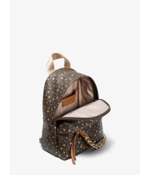 Рюкзак Michael Kors Slater Extra-Small Star с принтом коричневый