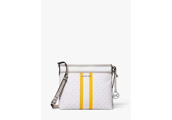 Michael Kors Bedford Small Logo Stripe Crossbody Bag