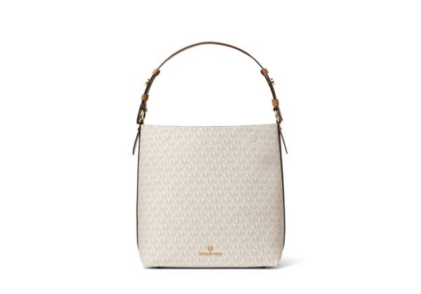 Michael Kors Signature Lucy Medium Hobo Shoulder Bag