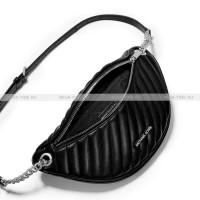 Поясная Сумка Michael Kors Женская Кожаная Черная 35T0SP6M3L Black