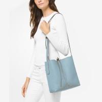 Сумка MICHAEL KORS Junie Large Pebbled Leather Messenger Bag Pale Blue
