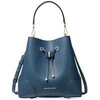 Michael Kors Mercer Gallery Convertible Bucket Leather Shoulder Bag