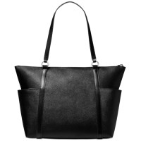 Michael Kors Nomad Large Leather Top-Zip Tote