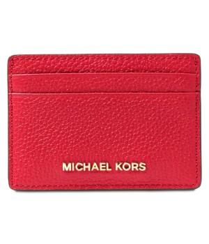 Michael Kors Pebble Leather Card Holder красный