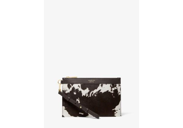 Michael Kors Pony Print Calf Hair Wristlet
