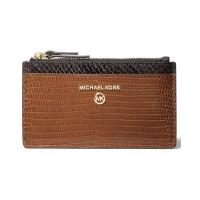 Michael Kors Jet Set Charm Slim Leather Card Case темно-коричневый