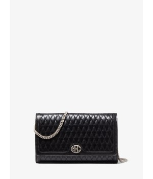 Michael Kors Monogramme Quilted Leather Clutch