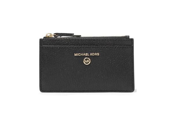 Michael Kors Jet Set Charm Slim Leather Card Case черный