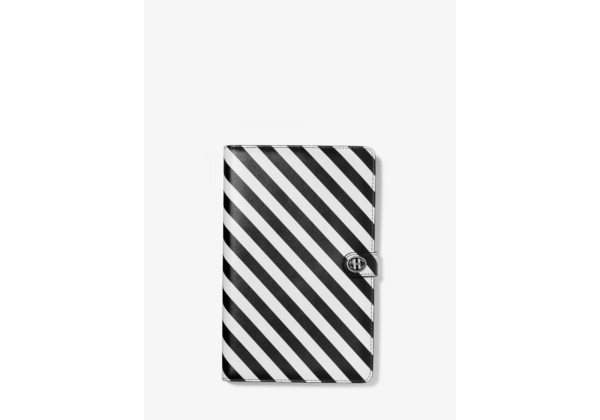 Michael Kors Monogramme Striped Leather Notebook