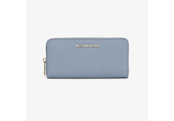 Кошелёк Michael Kors Jet Set Travel Saffiano Leather Continental - Pale Blue