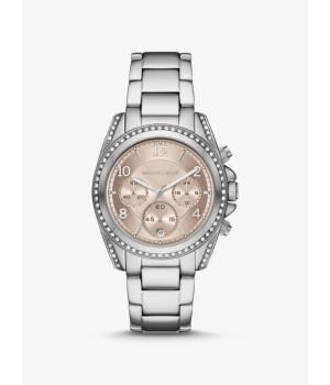 Michael Kors Oversized Blair Pavé Silver-Tone Watch