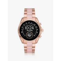 Michael Kors Gen 5 Bradshaw Rose Gold-Tone and Acetate Smartwatch