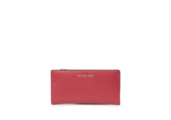 Michael Kors Large Leather Carryall Card Case
